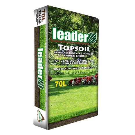 Leader Topsoil - Substrato per tappeti erbosi - Sacco 70 lt.